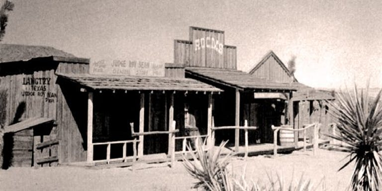 Judge Roy Bean series set image. links to news articles about the Hayden Ranch