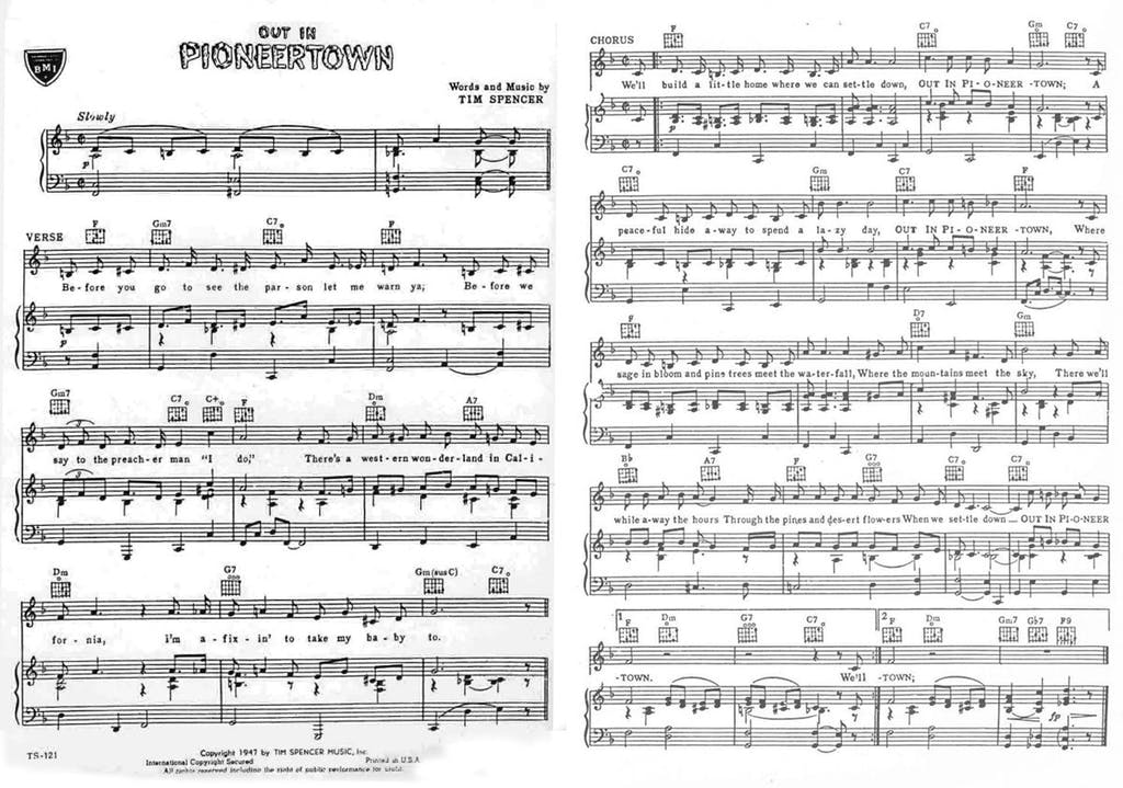 """Out in Pioneertown"" sheet music"