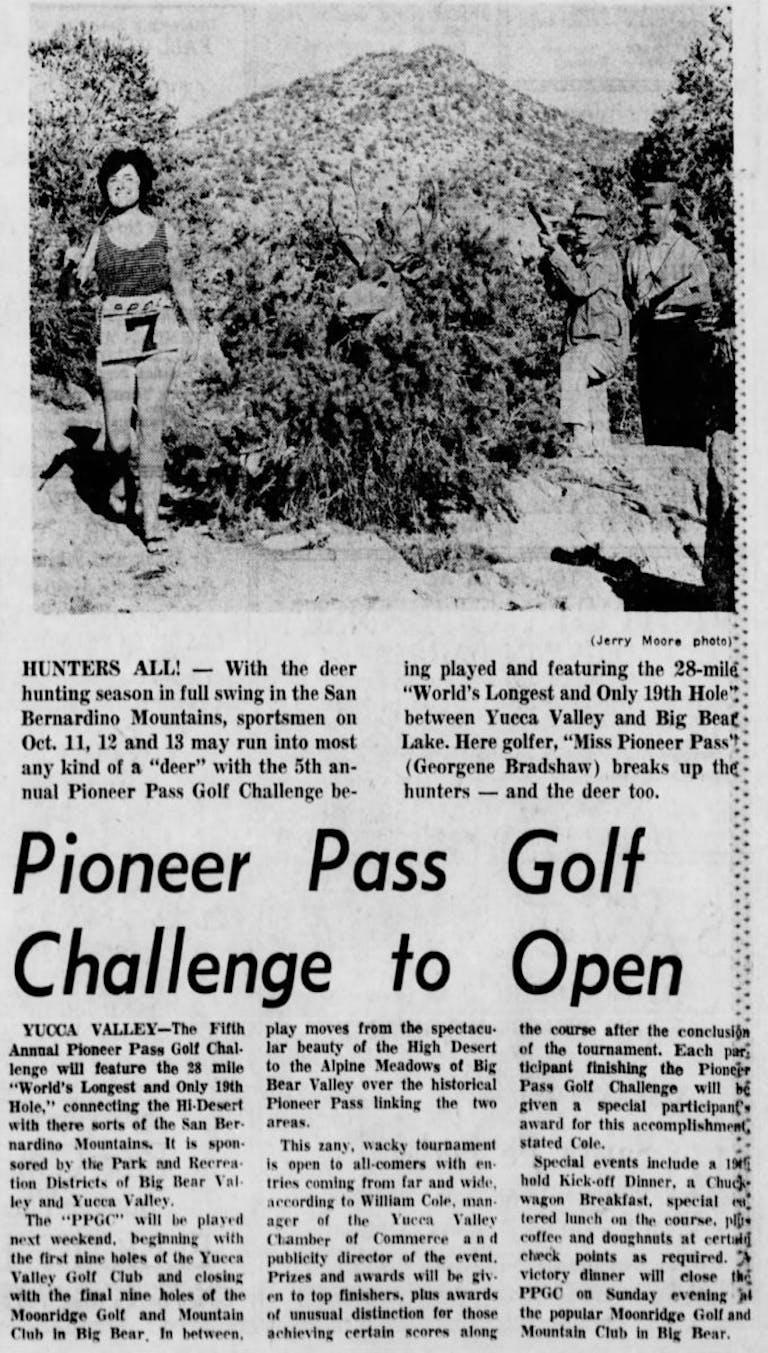 Oct. 6, 1963 - The San Bernardino County Sun article clipiing