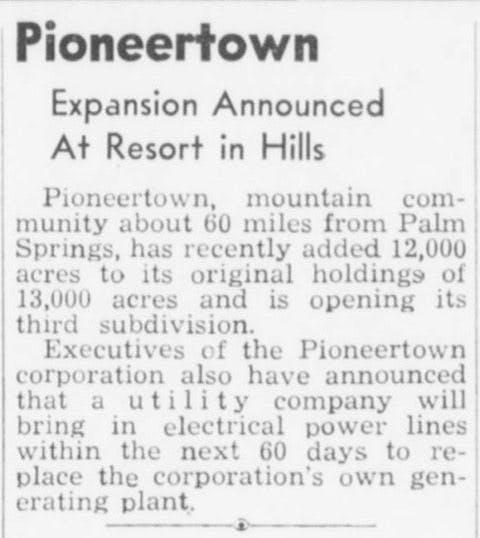 June 29, 1948 - Desert Sun article clipping