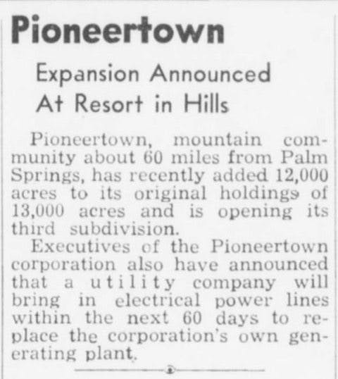 June 29, 1948 - Desert Sun article clipping