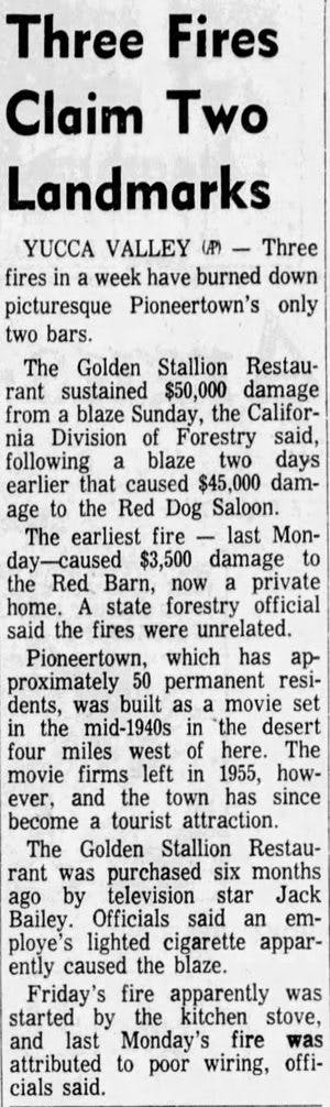 fire claims landmark clipping