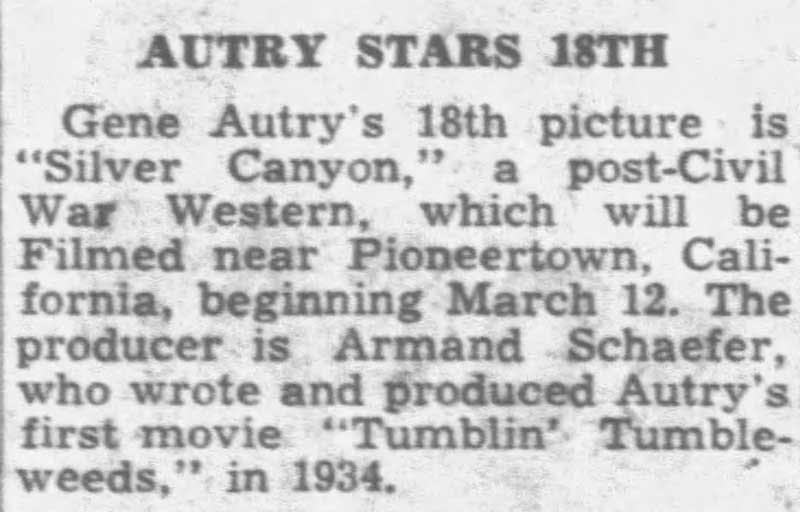 Autry stars 18th clipping