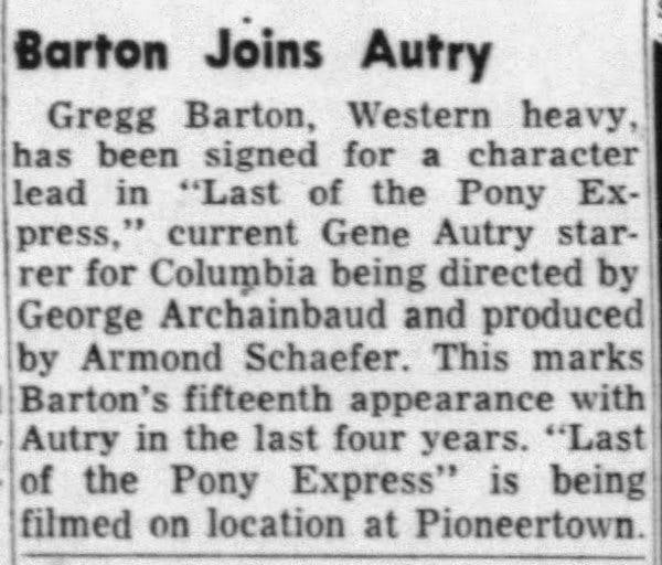 Barton joins Autry clipping