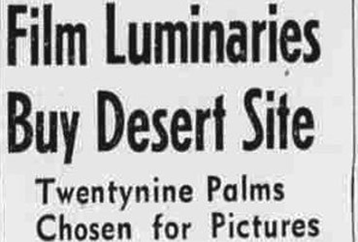 Film luminaries buy desert site featured image
