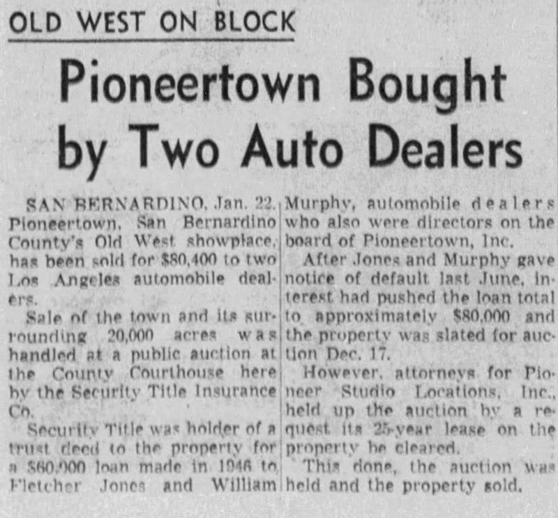 1954 Old West on block article clipping