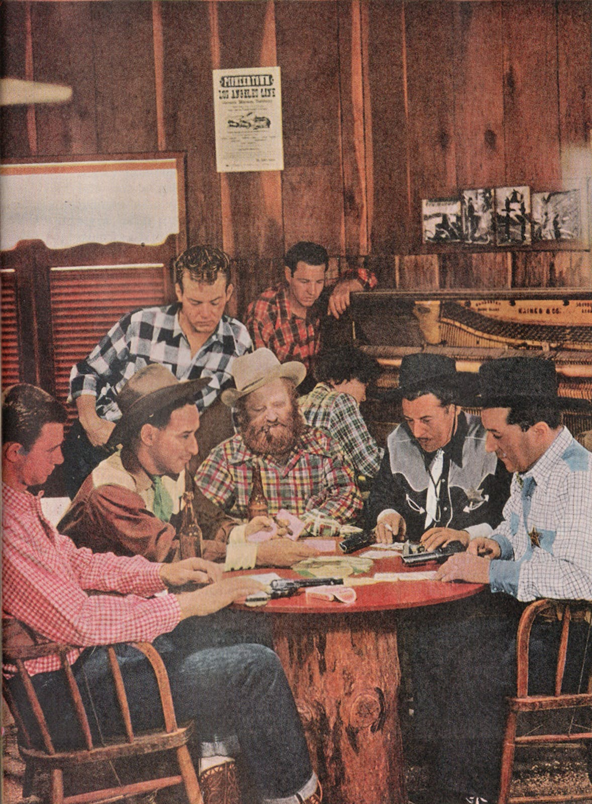 playing cards at the Red Dog Saloon