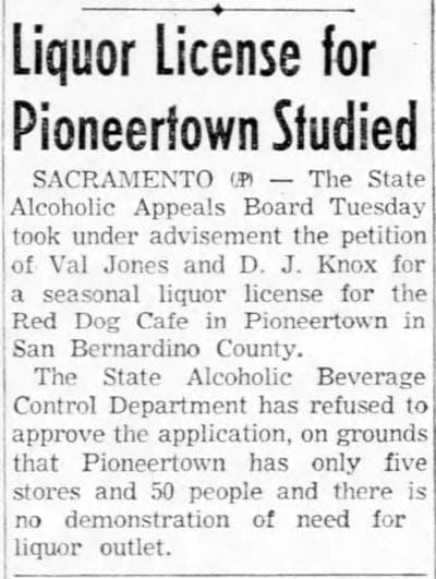 Nov. 16, 1955 - The San Bernardino County Sun article clipping