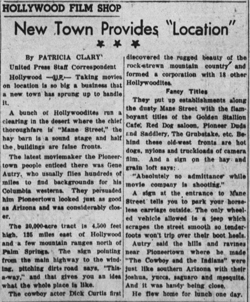 April 21, 1949 - Latrobe Bulletin article clipping