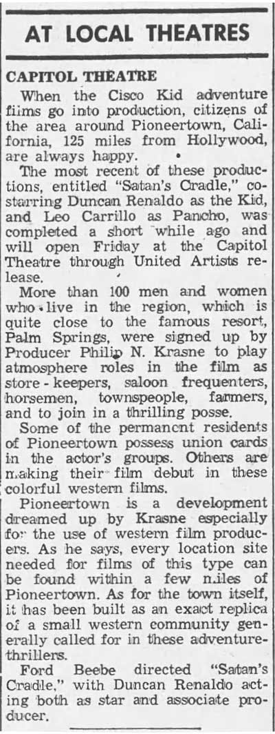 April 6, 1950 - Republican and Herald article clipping