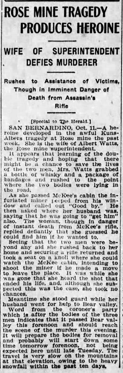 Oct. 12, 1908 - Los Angeles Herald article clipping
