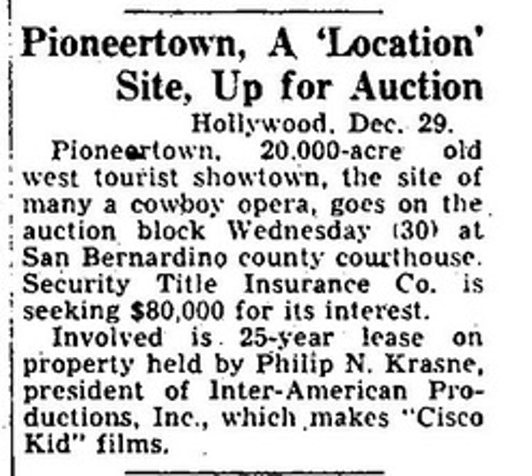 Variety - December 1953 article clipping