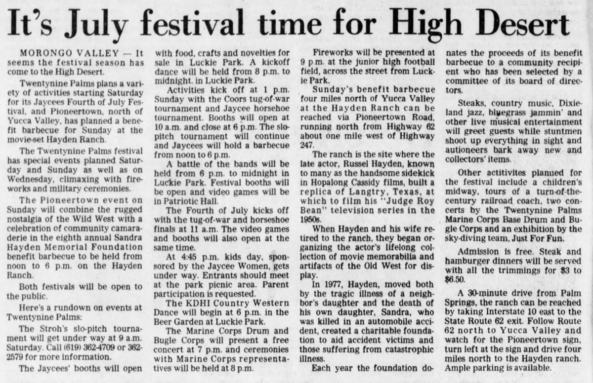 June 28, 1984 newspaper clipping