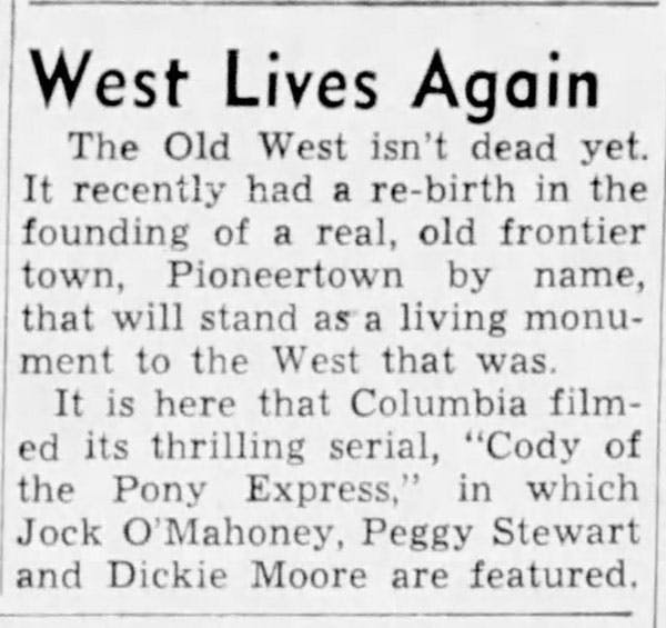 West lives again article clipping