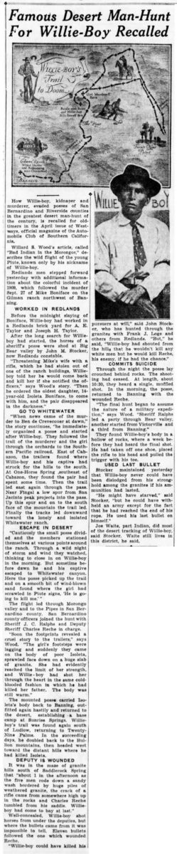 April 17, 1935 - The San Bernardino County Sun article clipping