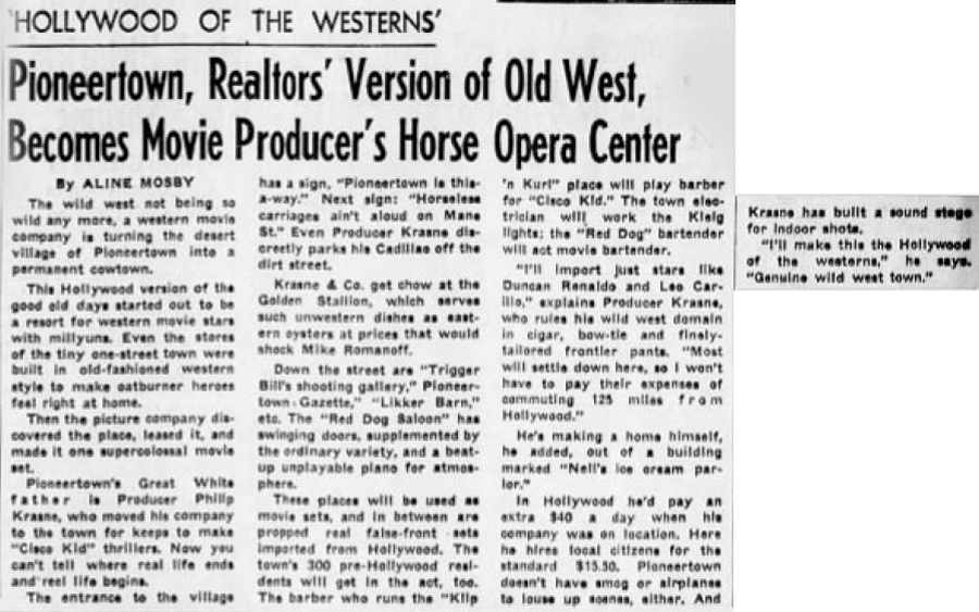 Dec. 12, 1948 - The San Bernardino County Sun article clipping