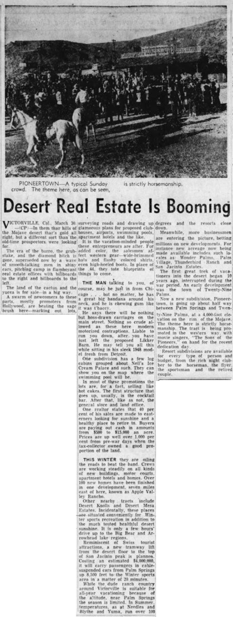 March 30, 1948 - Lancaster New Era clipping