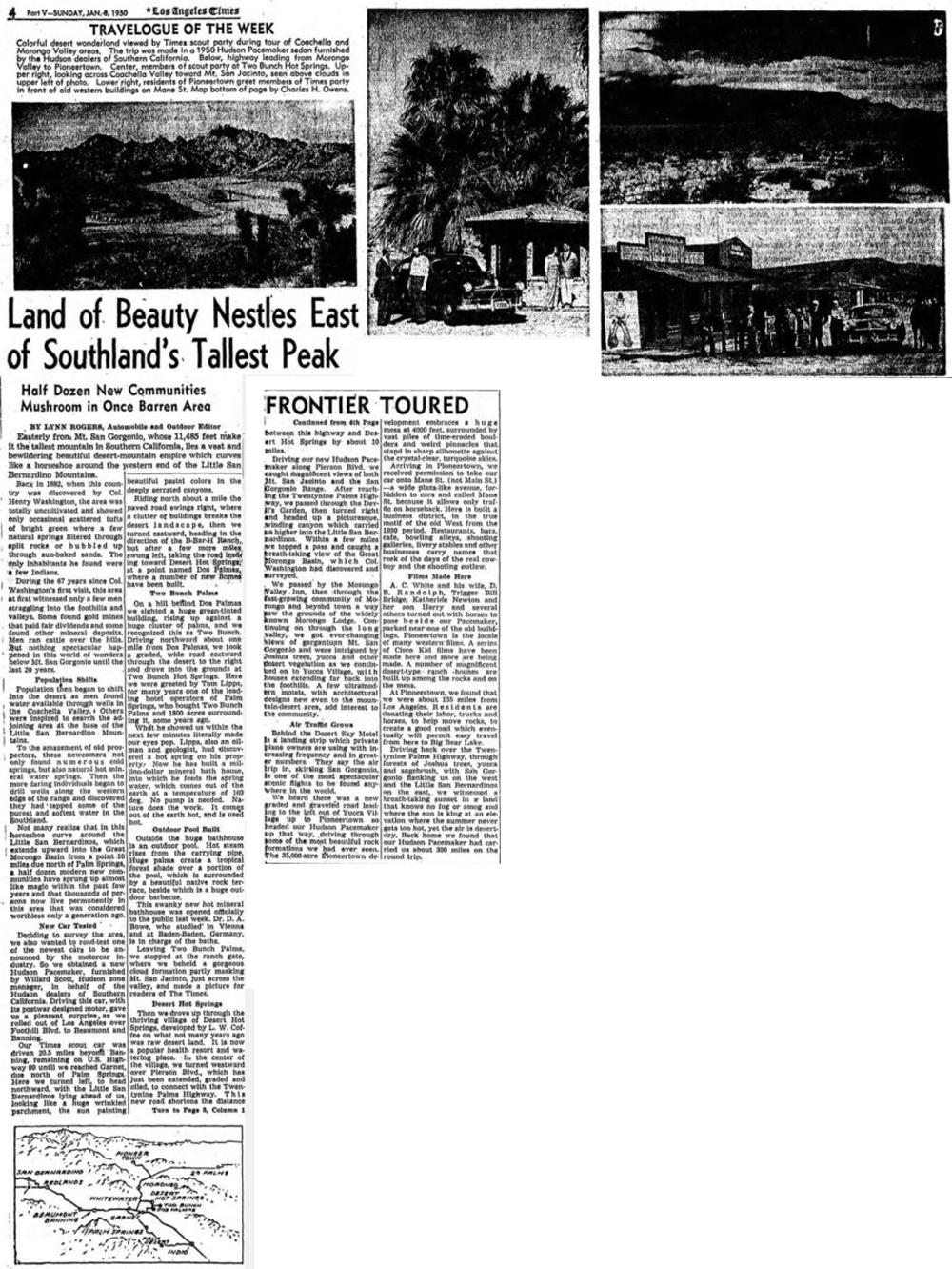 Jan. 8, 1950 - The Los Angeles Times artcile clipping
