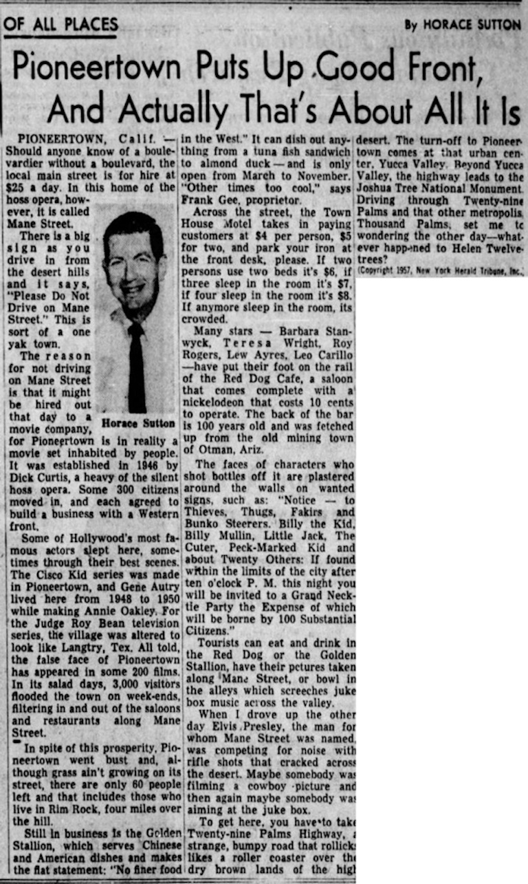 Jan. 3, 1957 - Redlands Daily Facts article clipping