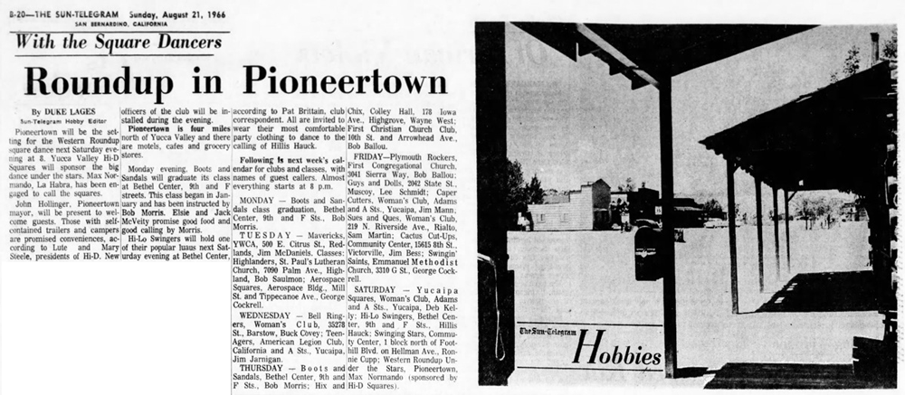 Roundup in Pioneertown article clipping