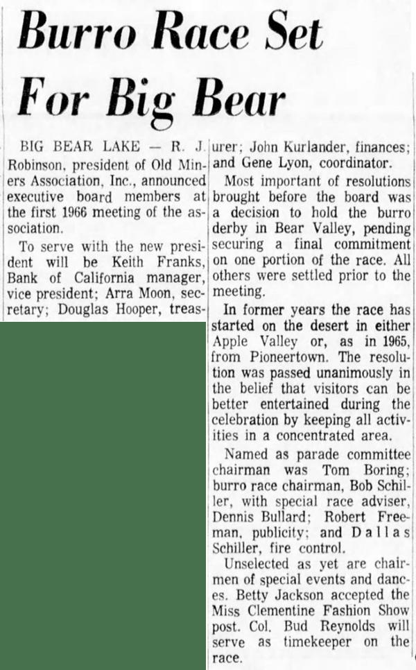 Feb. 25, 1966 - The San Bernardino County Sun article clipping