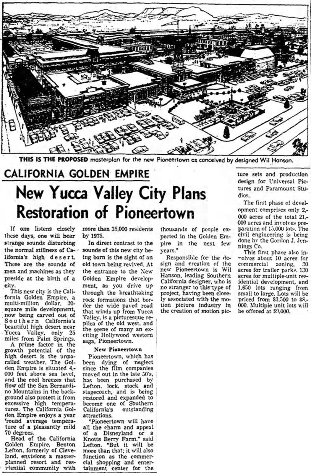 Jan. 26, 1966 - The Los Angeles Times article clipping