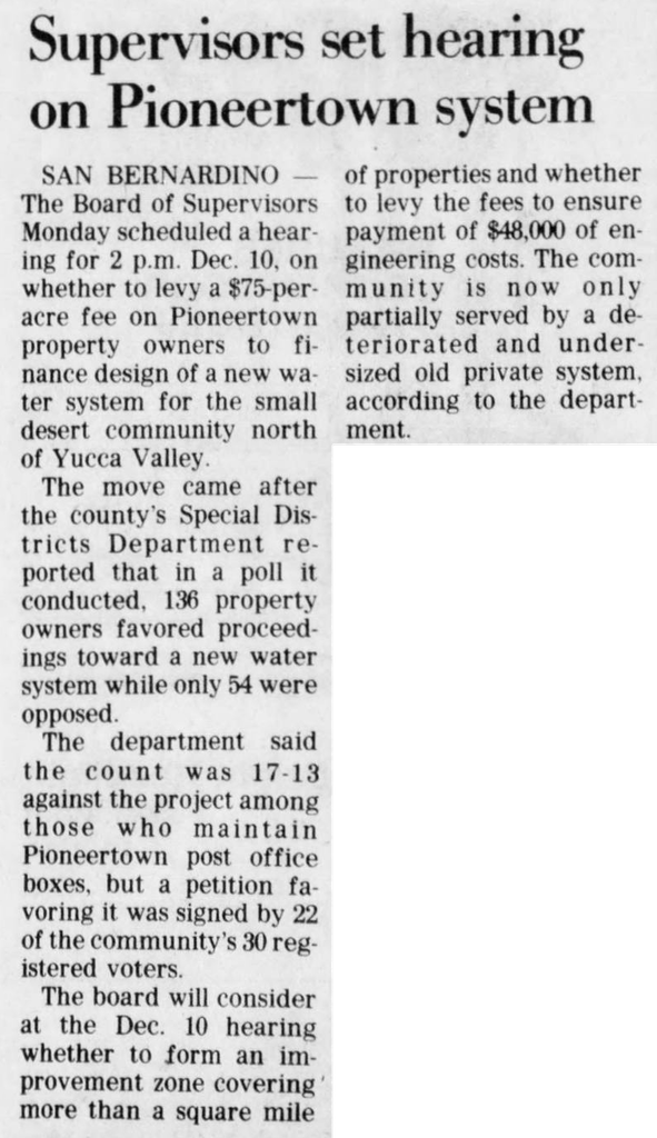 Nov. 22, 1979 - The San Bernardino County Sun article clipping
