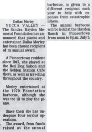 June 24, 1981 - The San Bernardino County Sun Article Clipping