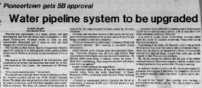 July 12, 1983 - The Desert Sun article clipping
