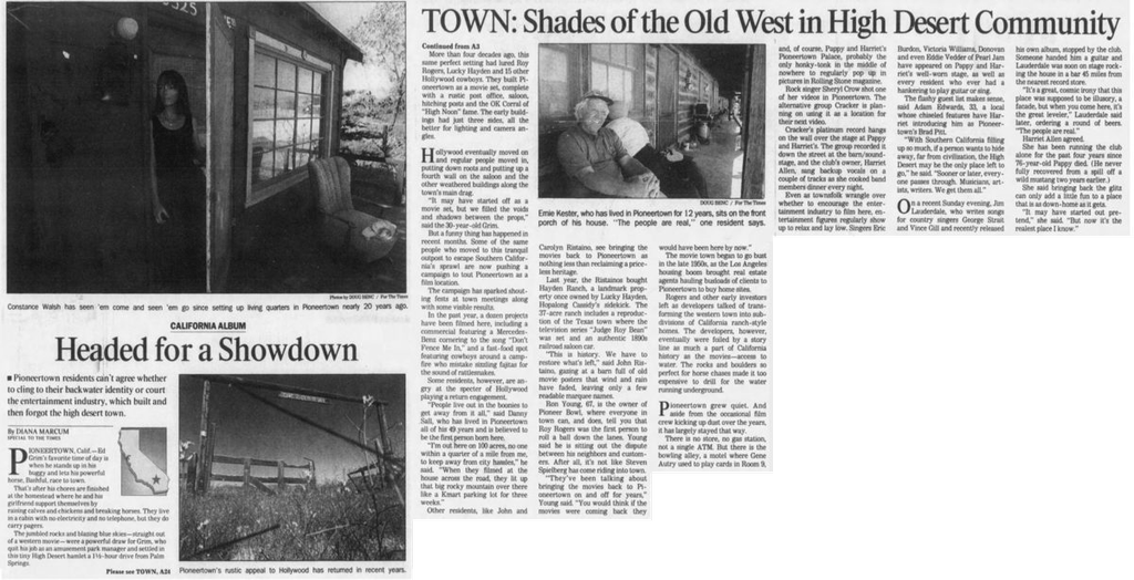 May 19, 1998 headed for a showdown article clipping