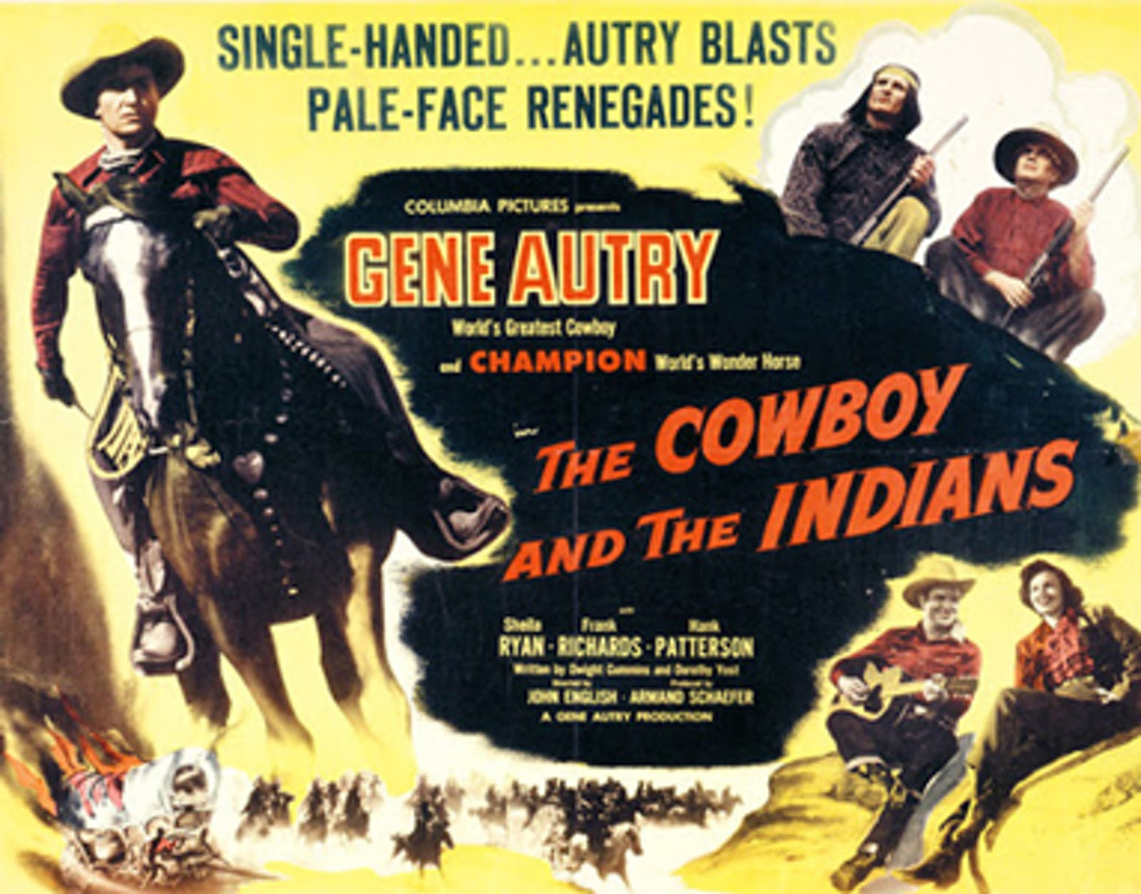 The Cowboy and the Indians lobby card